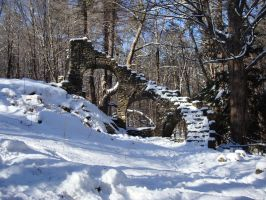 Stone Stairs in Winter by mirengraphics