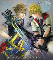 Kingdom Hearts - Sora vs Roxas by pauldng