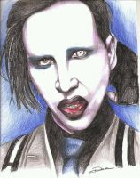 marilyn manson portrait by dottcrudele