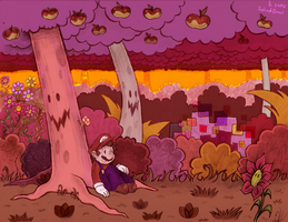 Mario In the Woods by bulgariansumo