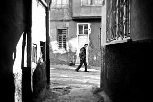 man in the street by pigarot
