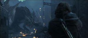 Bull from reign of fire by lightworkerlabs
