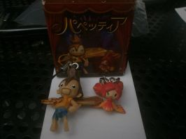 Puppeteer Kutaro and Pikarina Figure Charms by FierceTheBandit