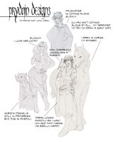 prydain design sketches by HarperJade