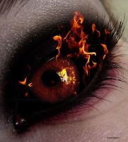 Eyes on Fire by CosmosStarChild