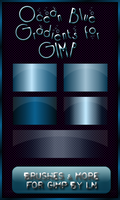 5 OceanBlue Gradients for GIMP by el-L-eN