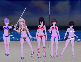 Majikoi - Oh Samurai Girls girls Bikinis by quamp