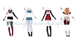 Outfits Adopt Batch 15 (CLOSE) by SpringPeachAdopts