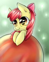 Collab with Adoptaponyshadow - Apple Bloom by JigokuShii