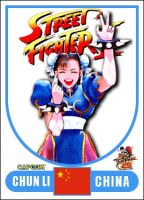 Chun Li - Street Fighter 2 Retro Card by MrABBrown