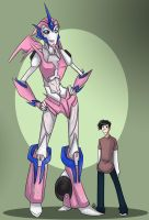 TF - Arcee and Jack by liliy