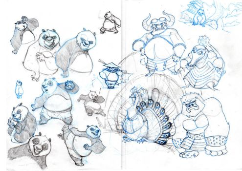 Kung Fu Sketches by alessandromicelli