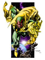 THE VISION colors by CThompsonArt