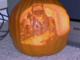 Master Chief Pumpkin by mica87