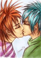 Emo boys kissing by darena13
