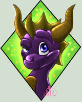 Spyro headshot by xNIR0x