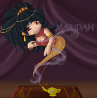 Maridah the Genie by Blaze-Bernatt