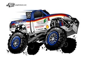 baja 1000 cartoon monroy by jaimevalle