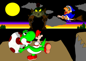 Yoshi's Island Final Battle by DarkDiddyKong