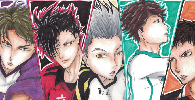 Haikyuu Team Captains by BubbleQuee