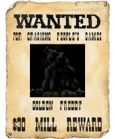 Golden Freddy's Wanted Poster by kinginbros2011