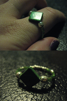 Crafted Green Nacre Ring 3 by sampdesigns