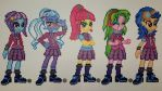 Equestria Girls Shadowbolts Perlers by jrfromdallas