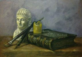 Still life with book by artoftas