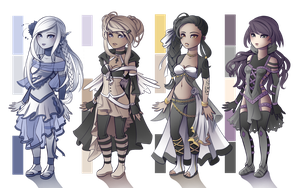 Adopts Set 3 - [4/4 Sold] by Kyatia