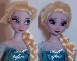 Snow Queen Elsa repaint by lulemee