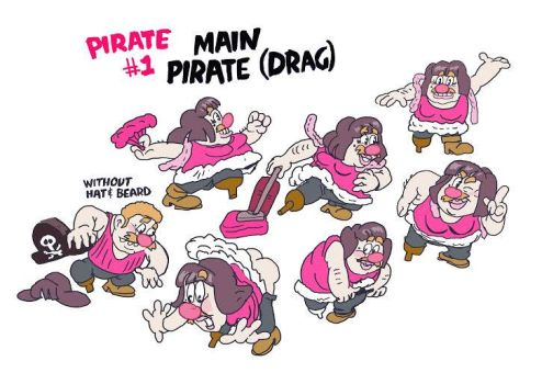 Model Sheet - Pirate in drag by badeyedeers