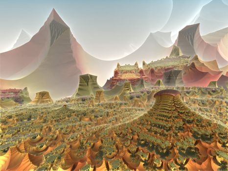 The Mountains of Barsoom by eclecticeric