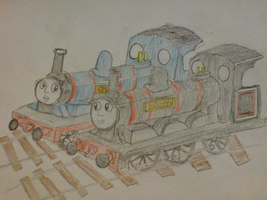 railway Scottish Twins Donnie and Douggie by WhippetWild