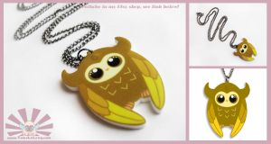 TOMO OWLIE - Kawaii Necklace Charm by TomodachiIsland