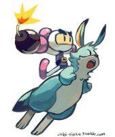 Bomberman and Louie by BettyKwong