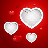 Valentine Vector Red Background by vectorbackgrounds