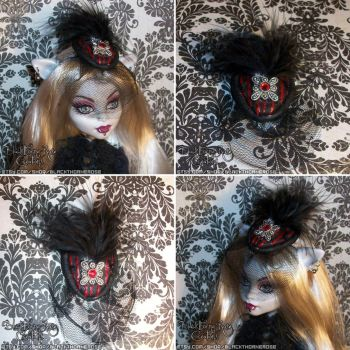 Doll Victorian Fascinator Hat-CHARLOTTE by spookyspinster
