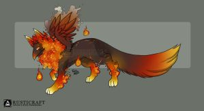 [CLOSED] Flame Relic Wyspling Female by Rusticraft
