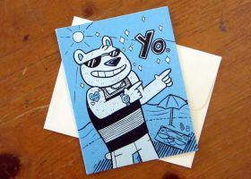 CARD 4.25x5.5 FourYoBear by SaltyMoose