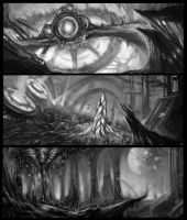 The World without Sun Sketches by ShadowYingZhi