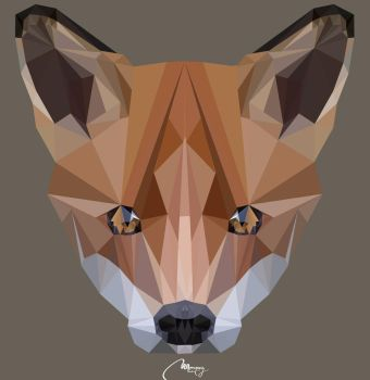 Low poly wolf by marky939