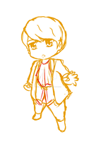 Opera Kyuhyun : chibi sketch ver 2 by CheekyFlower
