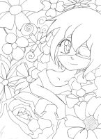Gift for JujubaWolf - Too Many Flowers (lineart) by MSMoura