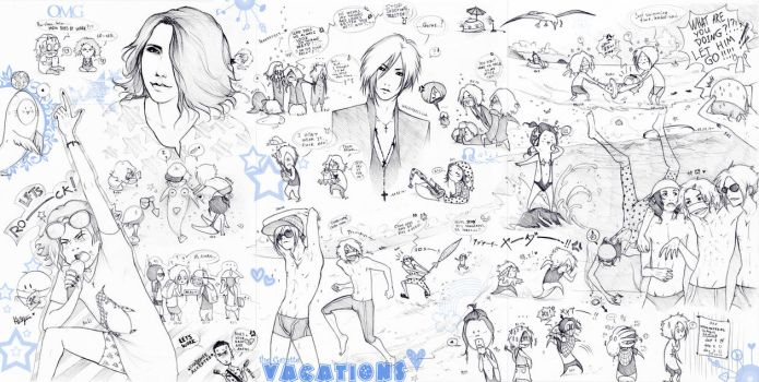 The Gazette summer vacations 2014 (sketch mix) by KaZe-pOn