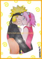 The first Kiss - NaruSaku by dai-hadita