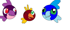 The three cat birds by Me-MowTheCat
