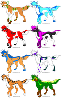 5-15 point adoptables by NarmiCreator