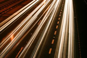 M25 Motorway Traffic Trails 3 by fruitycube