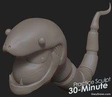 Snake Man - 60-Minute Practice Sculpt by GaryStorkamp