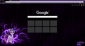 Twilight Sparkle Google Chrome Theme by Thorinair